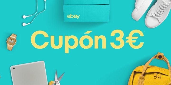 Oferta: 3 euros de descuento en eBay para cualquier compra desde 5 euros