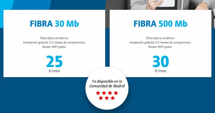 Imagen - DIGI lanza 500 Mbps de fibra simétrica por 30 euros
