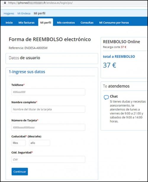 Imagen - Cuidado con el correo de Endesa y un supuesto reembolso de 37 euros