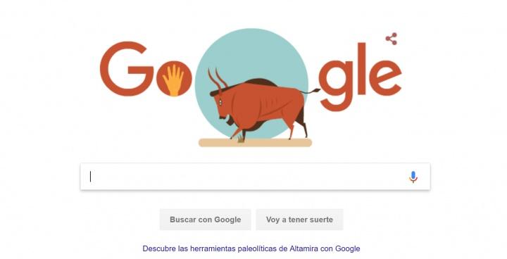 Imagen - Google dedica un Doodle en homenaje a la cueva de Altamira