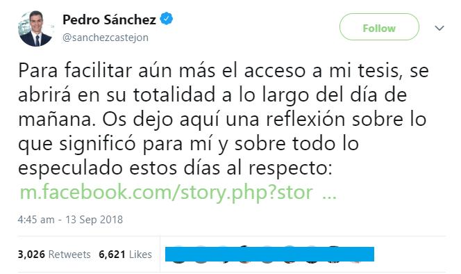 Imagen - Descarga la tesis doctoral del presidente Pedro Sánchez