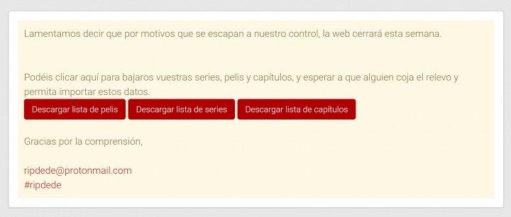 Imagen - Plusdede no funciona: la web de streaming cierra
