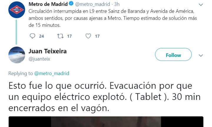 Imagen - Un dispositivo portátil explota espontáneamente en el Metro de Madrid