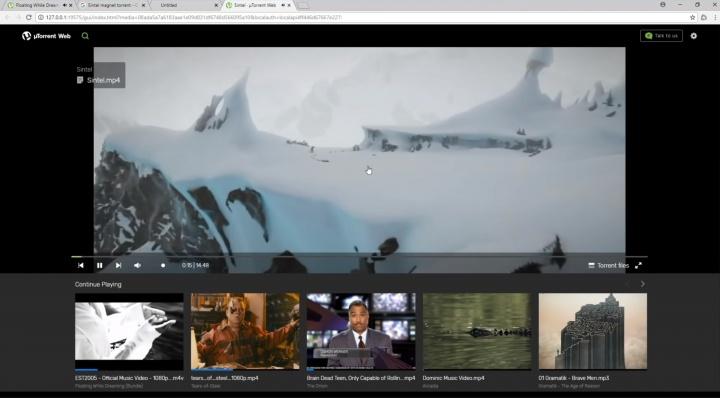 Imagen - uTorrent Web ya está disponible con descarga y visualización online