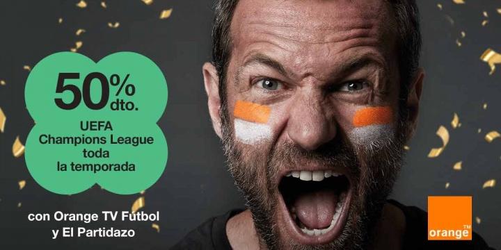 Orange ofrece todos los partidos de la Champions League a mitad de precio