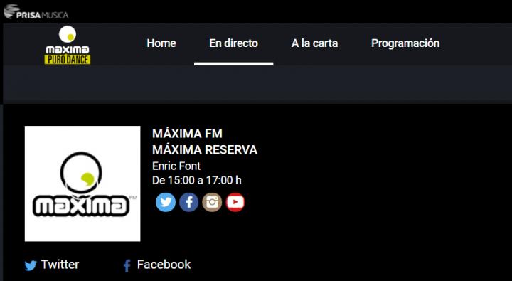 Imagen - Cómo escuchar Máxima FM online