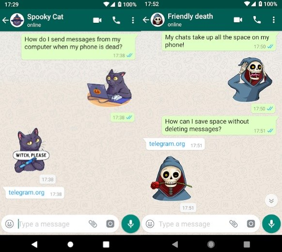 Descarga los Stickers de Telegram para WhatsApp