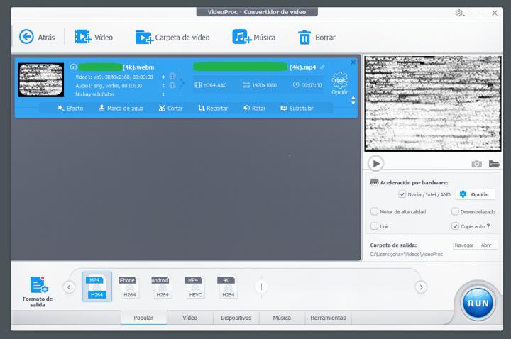 Imagen - Review: VideoProc, un potente y eficaz software para procesar y editar vídeos 4K de GoPro