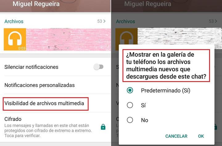 Imagen - WhatsApp para Android ya permite ocultar las imágenes y vídeos en la galería