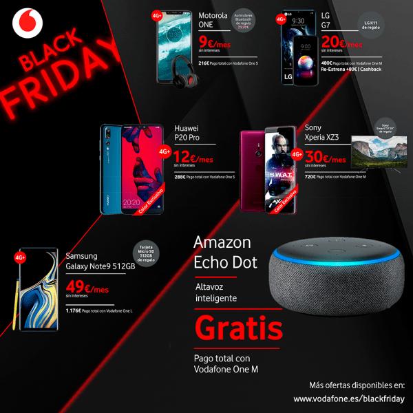 Imagen - Vodafone incluye Amazon Echo en sus ofertas del Black Friday