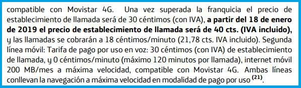 Imagen - Movistar hará una subida de precios en 2019: contestador, desvíos, establecimiento y más