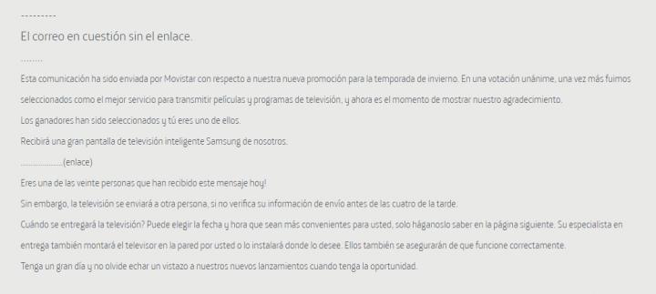 Imagen - Nuevo correo fraudulento que afecta a los clientes de Movistar