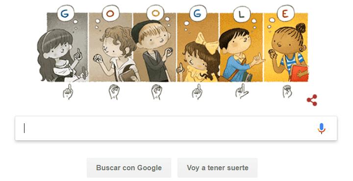 Imagen - Google dedica un Doodle a Charles-Michel de l'Épée por su trabajo con las personas sordas