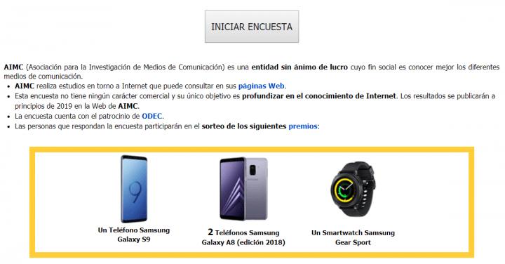 Imagen - La encuesta AIMC 2018 sortea un Galaxy S9, dos Galaxy A8 y un Gear Sport