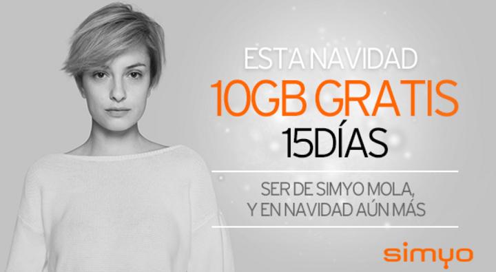 Imagen - Simyo regala un bono de 10 GB durante 15 días