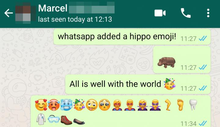 Imagen - WhatsApp añade nuevos emoticonos del Unicode 11