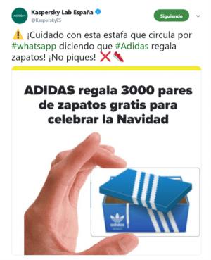 Imagen - ¡Cuidado! Adidas no regala 3.000 pares de zapatos por Navidad, es una estafa