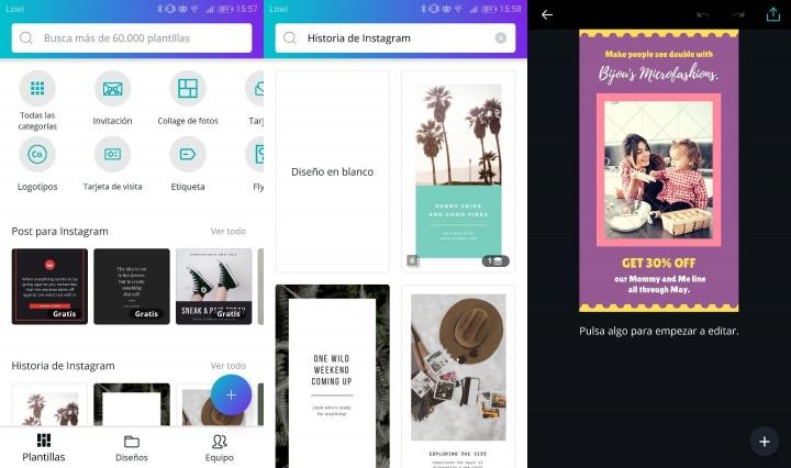 Imagen - Descarga Canva, la app para editar fotos en Instagram
