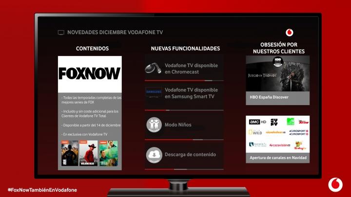 Imagen - Vodafone TV incluye FoxNow en su oferta de TV Total y nuevas funcionalidades