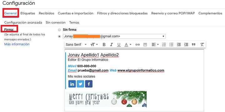 Imagen - Cómo crear una firma de correo profesional en Internet con NEWOLDSTAMP
