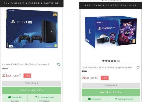 Imagen - El Corte Inglés cancela compras de PlayStation 4 y PlayStation VR por un error de precios