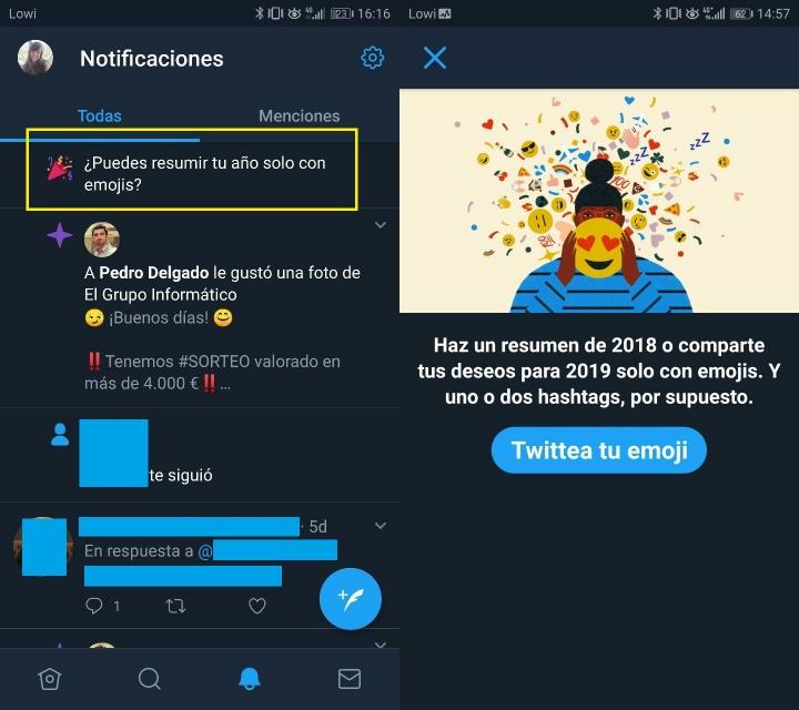 Imagen - Twitter permite crear nuestro resumen de 2018 solo con emojis