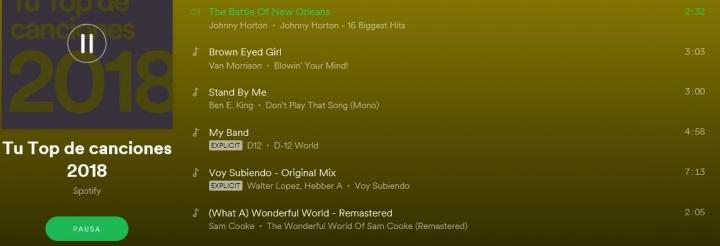 Imagen - Spotify lanza un resumen personalizado con lo que más has escuchado en 2018