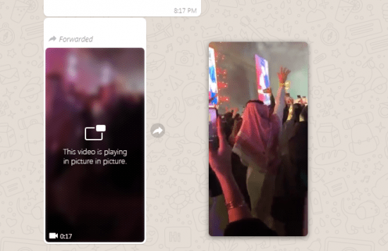 Imagen - WhatsApp Web ya soporta reproducción de vídeos en modo PiP