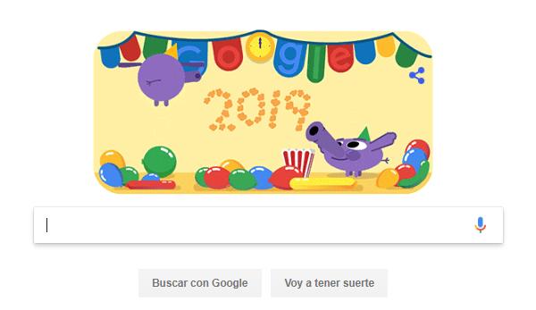 Imagen - Google lanza un nuevo Doodle para felicitar el 2019