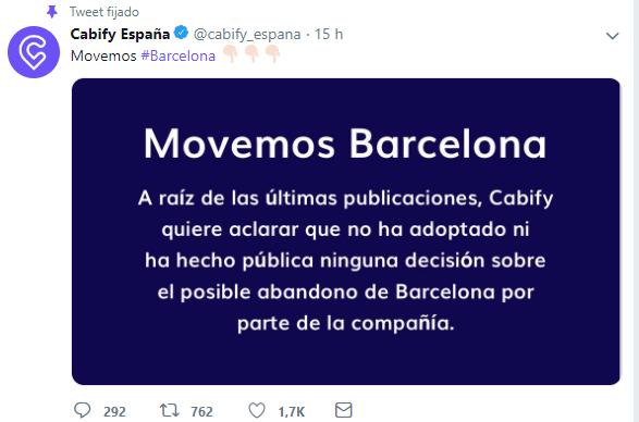 Imagen - Uber y Cabify abandonarían Barcelona, pero Cabify lo desmiente
