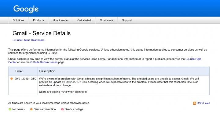Imagen - Gmail está caído para muchos usuarios