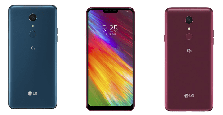 LG Q9, el nuevo smartphone de gama media con notch y pantalla de 6,1 pulgadas