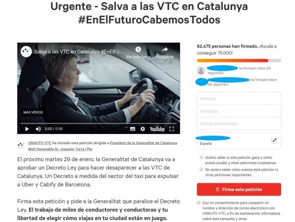 Imagen - Una petición en Change.org pide mantener a Cabify y Uber en Cataluña