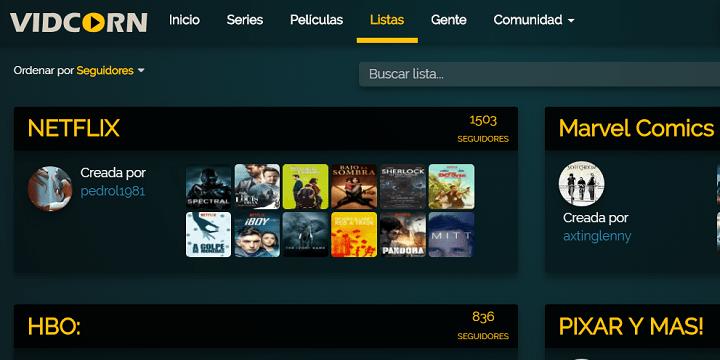 Imagen - Vidcorn, otro portal de series y películas