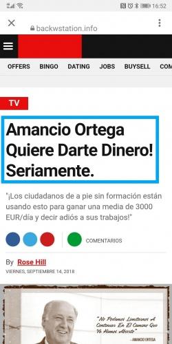 """Imagen - Cuidado con las Stories de """"Amancio Ortega quiere darte dinero"""" que aparecen en Instagram"""