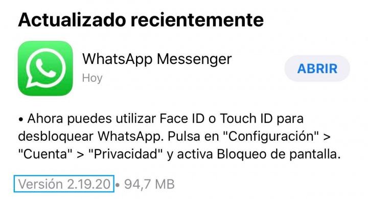 Imagen - La autenticación por huella dactilar ya es oficial en WhatsApp para iOS