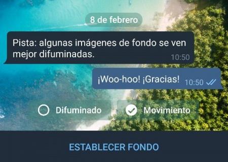 Imagen - Telegram recibe nuevos fondos con movimiento, patrones y difuminado