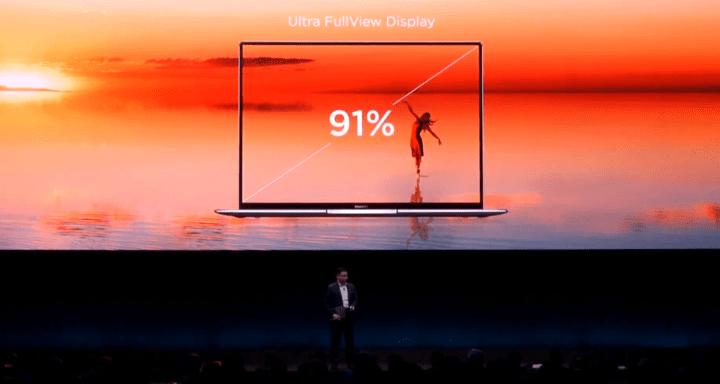 Imagen - Huawei MateBook X Pro: 91% de ratio de pantalla, 4,9 mm de grosor y procesador i7