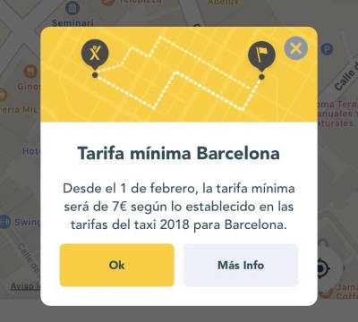 Imagen - MyTaxi sube la tarifa mínima a 7 euros en Barcelona