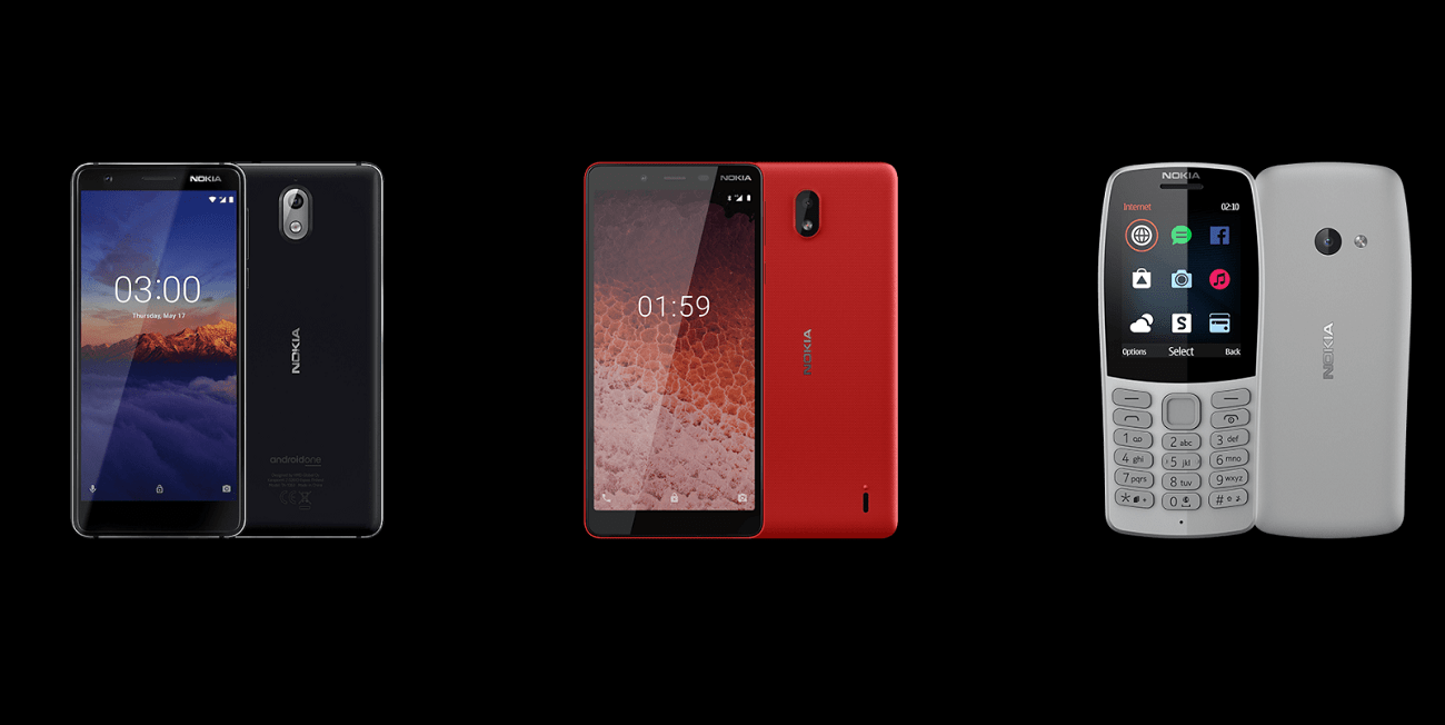 Nokia 210, 1 Plus, Nokia 3 y 4 son los nuevos móviles presentados en el MWC 2019