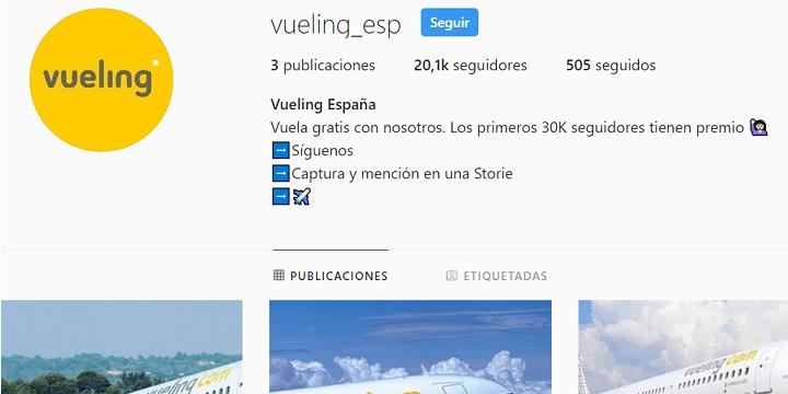 """Imagen - Cuidado con los vuelos """"gratis"""" de Vueling: vuelven las cuentas falsas en Instagram"""