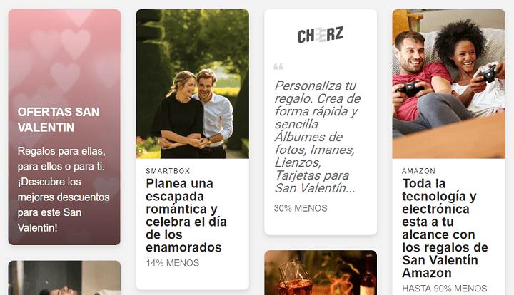 Imagen - 7 webs donde encontrar cupones para San Valentín