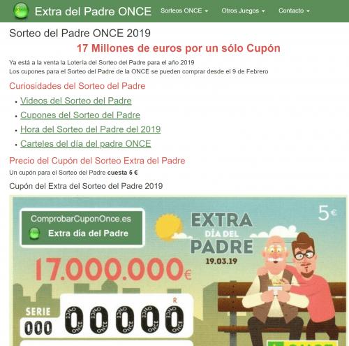 Imagen - Cómo comprobar el resultado del Sorteo ONCE Extra Día del Padre 2019