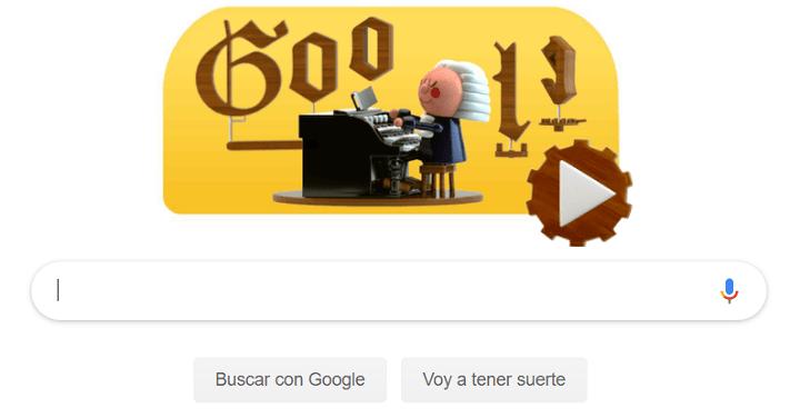 Imagen - Google dedica a Johann Sebastian Bach un Doodle musical con inteligencia artificial
