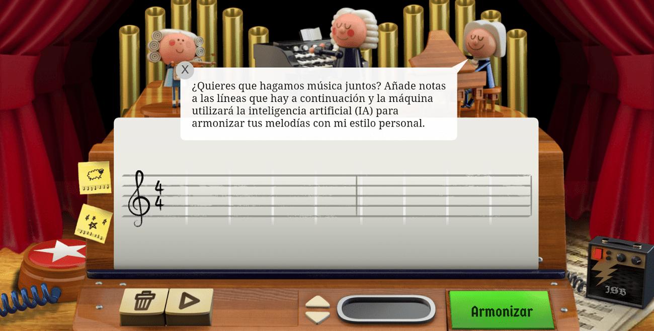 Google dedica a Johann Sebastian Bach un Doodle musical con inteligencia artificial