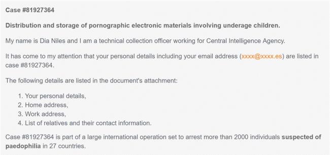 Imagen - Cuidado con el supuesto email de la CIA que te acusa de tener material de menores