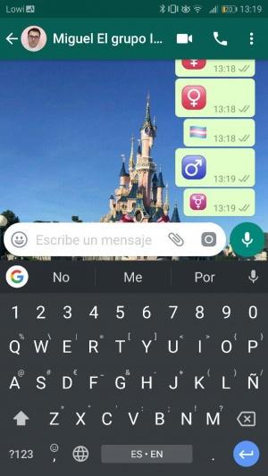 Imagen - WhatsApp añade emojis ocultos con los símbolos de masculino, femenino y trans