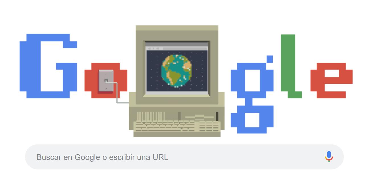 Google celebra el 30 aniversario de Internet con un Doodle