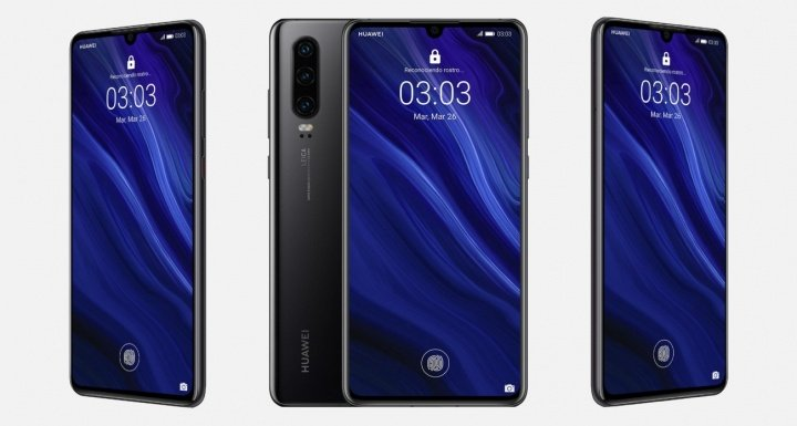 Imagen - Huawei P30 llega con triple cámara, lector de huellas en pantalla y notch compacto