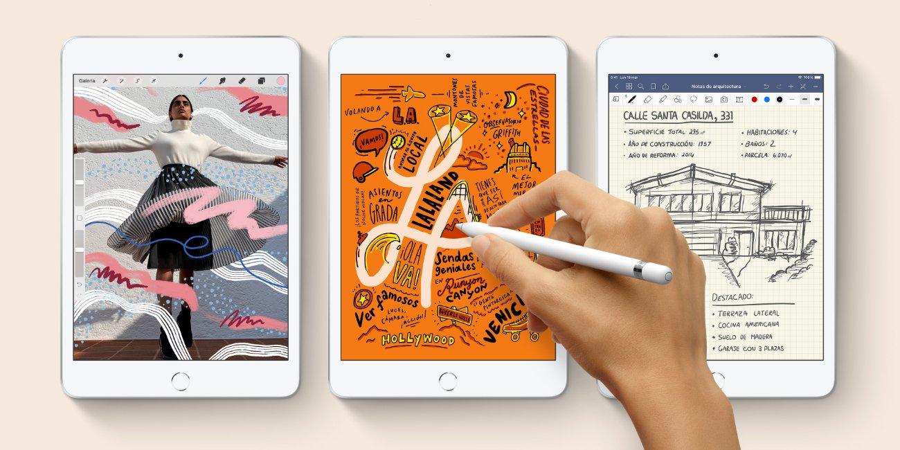 iPad Air y iPad mini se renuevan: soporte para Apple Pencil y diseño tradicional